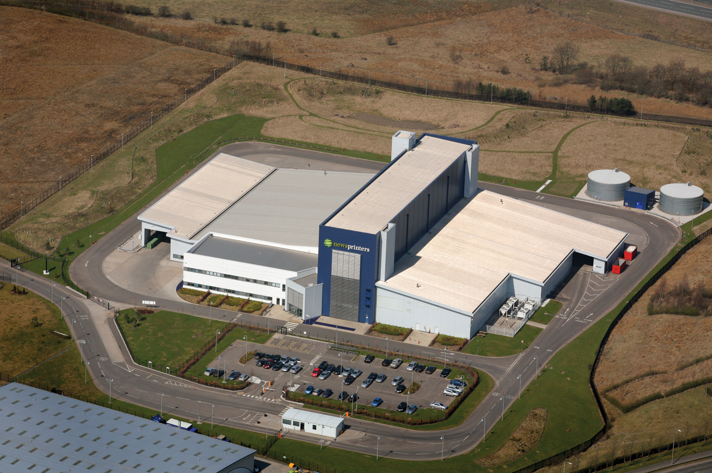 Newsprinters Eurocentral Plant (Aerial)